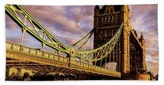 London Tower Bridge. Bath Towel