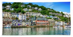 Looe In Cornwall Uk Hand Towel by Chris Smith