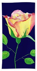Hand Towel featuring the painting Love In Bloom by Rodney Campbell