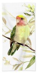 Lovebird Hand Towel by Suren Nersisyan
