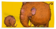 Mammothz Hand Towel by Andy Catling