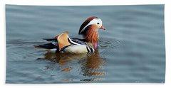 Bath Towel featuring the photograph Mandarin Duck by Michal Boubin