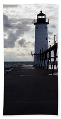 Manistee Pierhead Lighthouse Hand Towel
