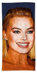 Margot Robbie Art Hand Towel by Best Actors