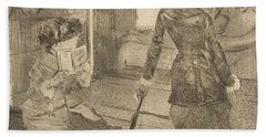 Mary Cassatt At The Louvre Hand Towel
