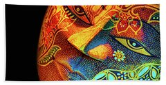Mask Hand Towel by Charuhas Images