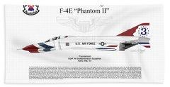 Mcdonnell Douglas F-4e Phantom II Thunderbird Hand Towel