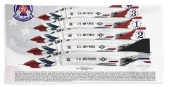 Mcdonnell Douglas F-4e Phantom II Thunderbirds Hand Towel by Arthur Eggers