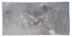Mist At Aiguille Du Midi Bath Towel