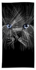 Mister Whiskers Hand Towel by ISAW Gallery