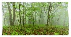 Misty Woods Bath Towel by Thomas R Fletcher