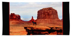 Bath Towel featuring the photograph Monument Valley II by Tom Prendergast