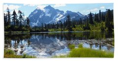Mount Shuksan Reflection Bath Towel by Karen Molenaar Terrell