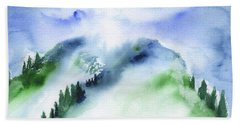 Mountain In The Clouds Bath Towel