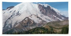 Mt Rainier From Sunrise Bath Towel