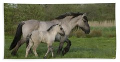Mulassier Mare And Foal Hand Towel
