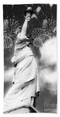 My Lady Liberty Hand Towel by Janie Johnson