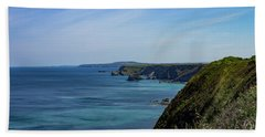 Bath Towel featuring the photograph North Coast Cornwall by Brian Roscorla