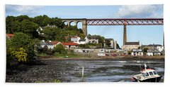Bath Towel featuring the photograph North Queensferry by Jeremy Lavender Photography