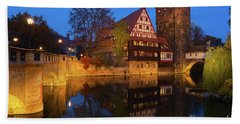 Nuremberg At Night Bath Towel
