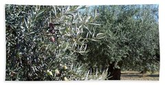 Hand Towel featuring the photograph Olive Trees by Judy Kirouac