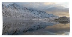 Hand Towel featuring the photograph On My Way Through Lofoten 3 by Dubi Roman