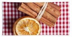 Orange And Cinnamon Bath Towel