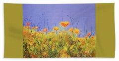 Orange Poppies Hand Towel