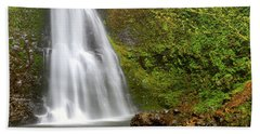 Bath Towel featuring the photograph Oregon Waterfall Mountain Landscape by Andrea Hazel Ihlefeld