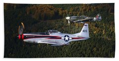 P-51 Cavalier Mustang With Supermarine Hand Towel