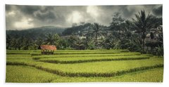Hand Towel featuring the photograph Paddy Field by Charuhas Images