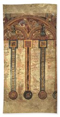 Page From The Book Of Kells Bath Towel