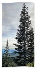 2 Pine Trees Hand Towel