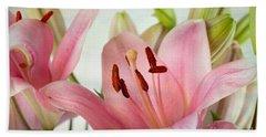 Pink Lilies Hand Towel