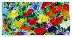 Bath Towel featuring the painting Poppies by Teresa Wegrzyn