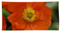Hand Towel featuring the photograph Poppy by Heidi Poulin