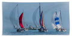 Port Huron To Mackinac Race 2015 Hand Towel