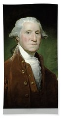 Bath Towel featuring the mixed media President George Washington by War Is Hell Store