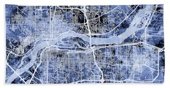 Quad Cities Street Map Hand Towel