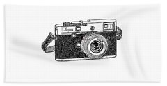 Rangefinder Camera Bath Towel
