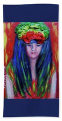 Rasta Girl Bath Towel