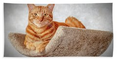 Red Cat Bath Towel