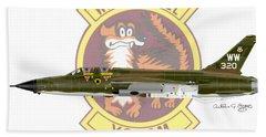Republic F-105g Thunderchief 561tfs Bath Towel by Arthur Eggers