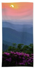 Roan Mountain Sunset Hand Towel by Serge Skiba