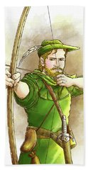 Robin Hood The Legend Hand Towel by Reynold Jay