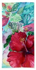 Rose Of Sharon Hand Towel by Mindy Newman