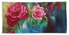 Roses One Of A Kind Handmade Bath Towel