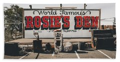 Rosies Den Cafe  Bath Towel
