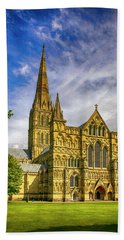 Salisbury Cathedral, Uk Hand Towel by Chris Smith