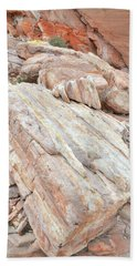 Hand Towel featuring the photograph Sandstone Slope In Valley Of Fire by Ray Mathis